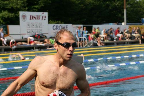 Thomas Philipp beim Schwimmausstieg