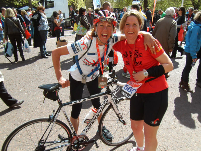 London Marathon: Heidi und Chrissie