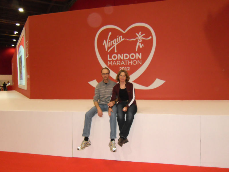 London Marathon: Heidi und Thomas