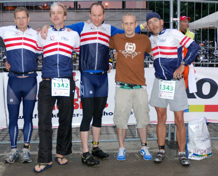 6. Frankfurt City Triathlon - Christoph, Frank, Uwe, Martin, Torsten